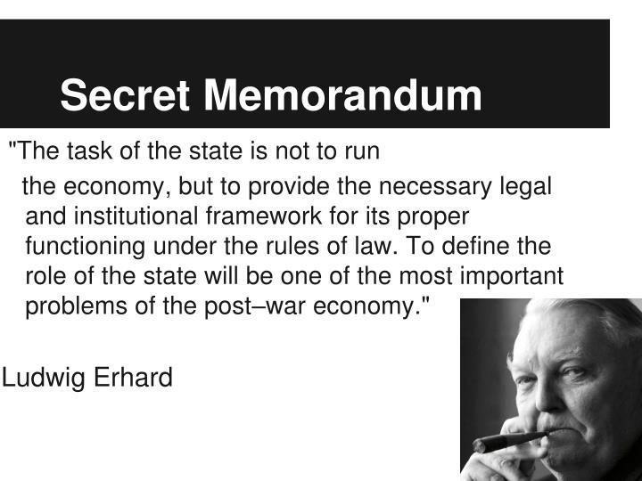 Secret Memorandum