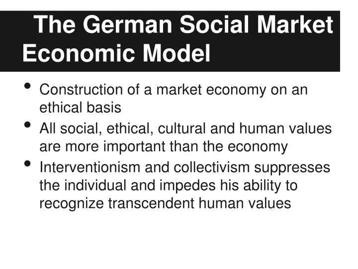 The German Social Market Economic Model
