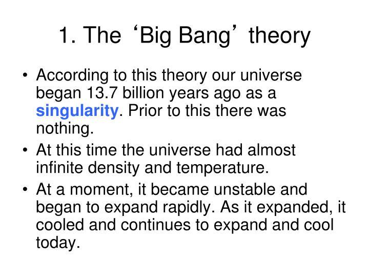 1 the big bang theory