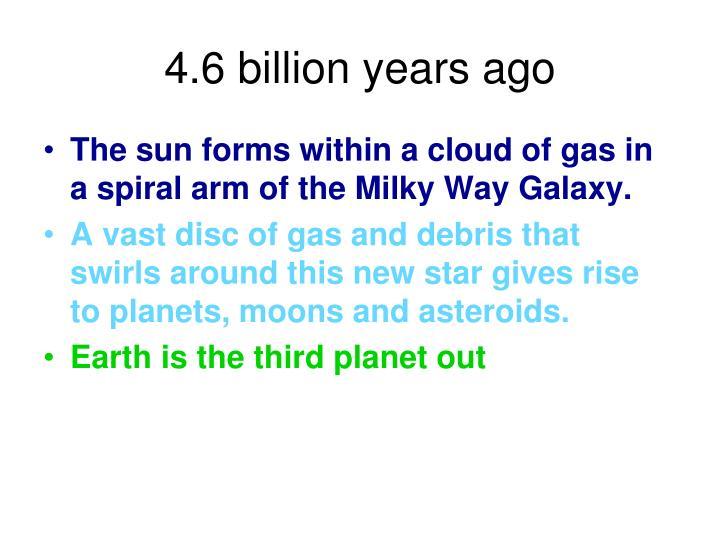 4.6 billion years ago