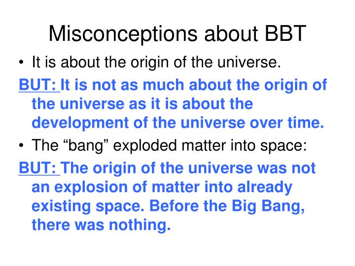 Misconceptions about BBT