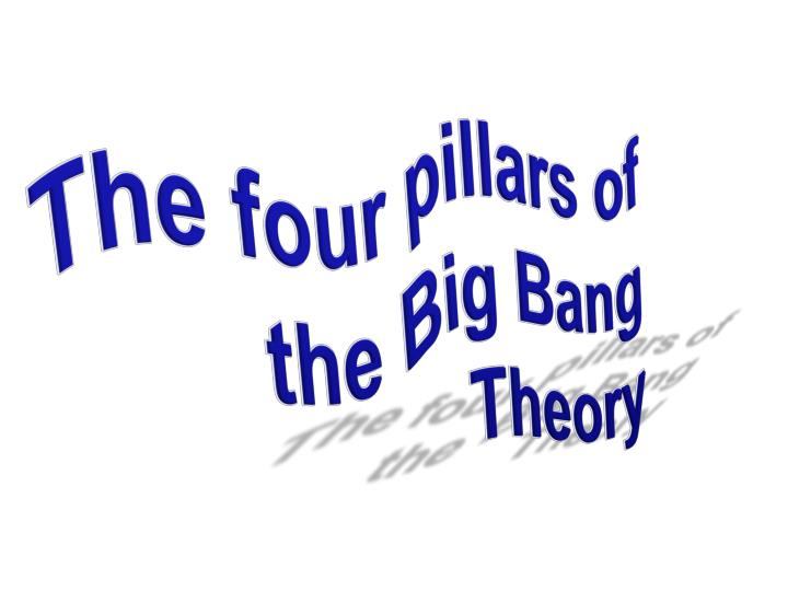 The four pillars of the Big Bang Theory