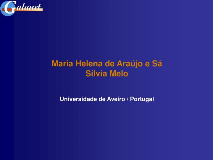 Maria Helena de Araújo e Sá