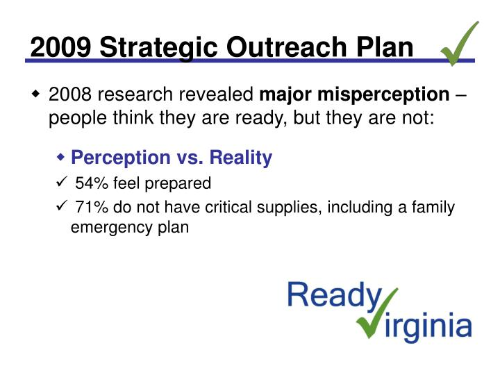 2009 strategic outreach plan