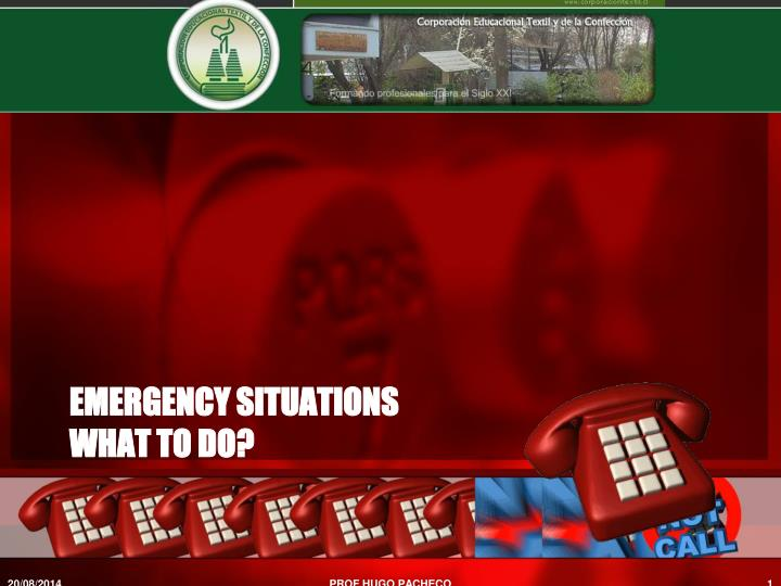 emergency situations what to do