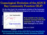 cosmological evolution of the agn x ray luminosity function xlf