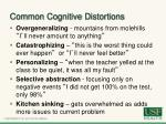 common cognitive distortions