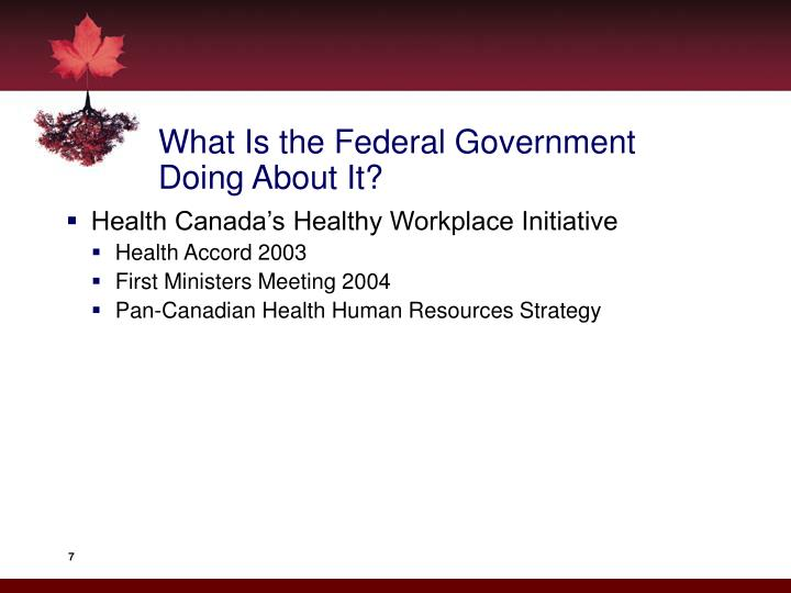 What Is the Federal Government