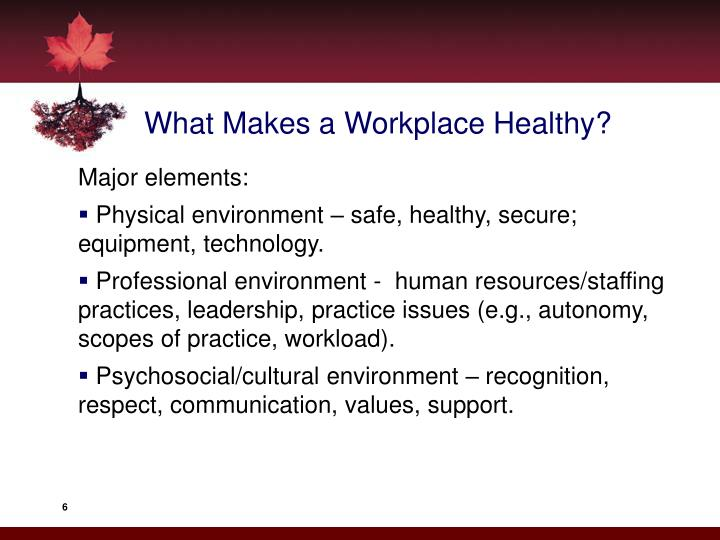 What Makes a Workplace Healthy?