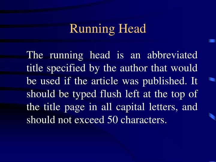 Running Head