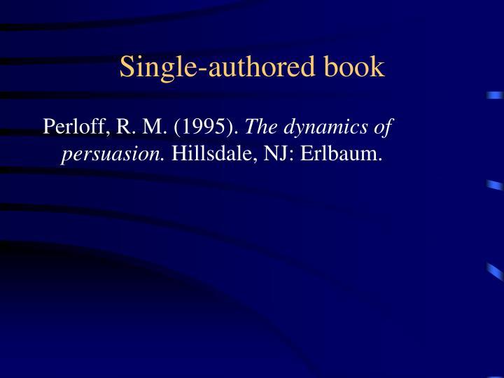 Single-authored book