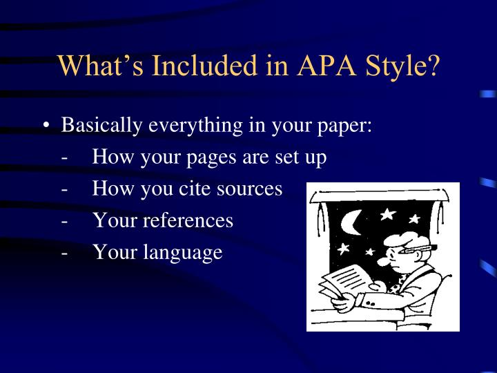 What's Included in APA Style?