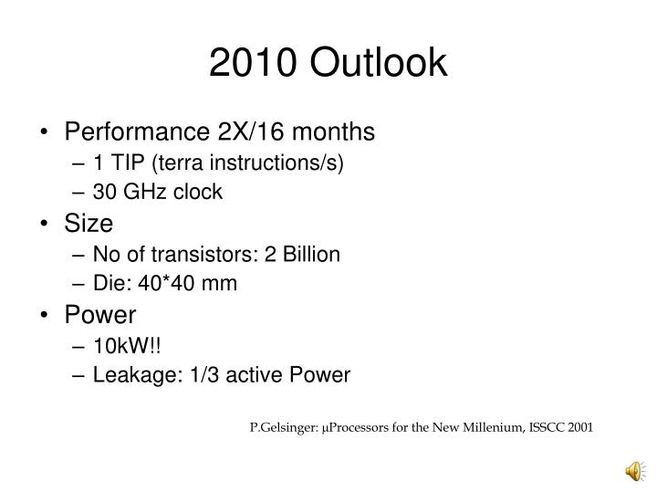 2010 Outlook