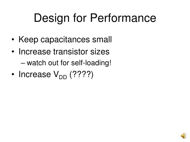 Design for Performance