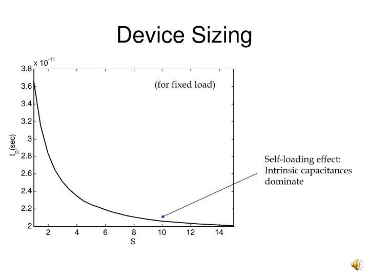 Device Sizing