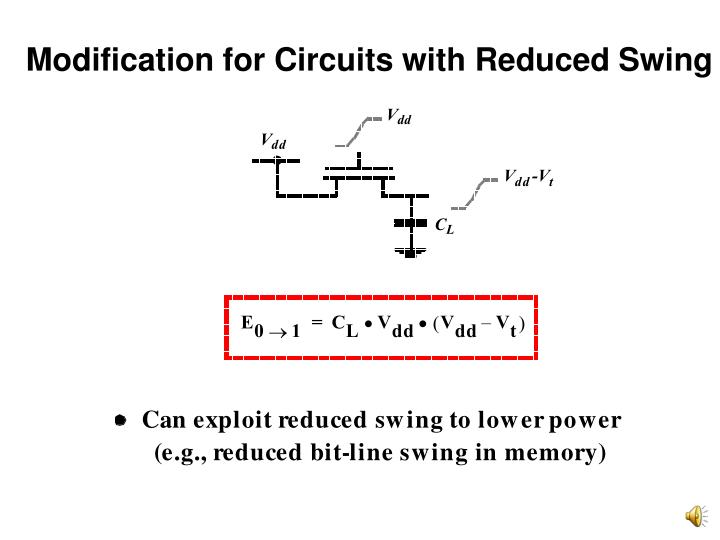 Modification for Circuits with Reduced Swing
