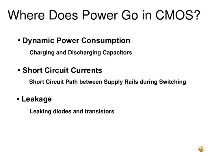 Where Does Power Go in CMOS?
