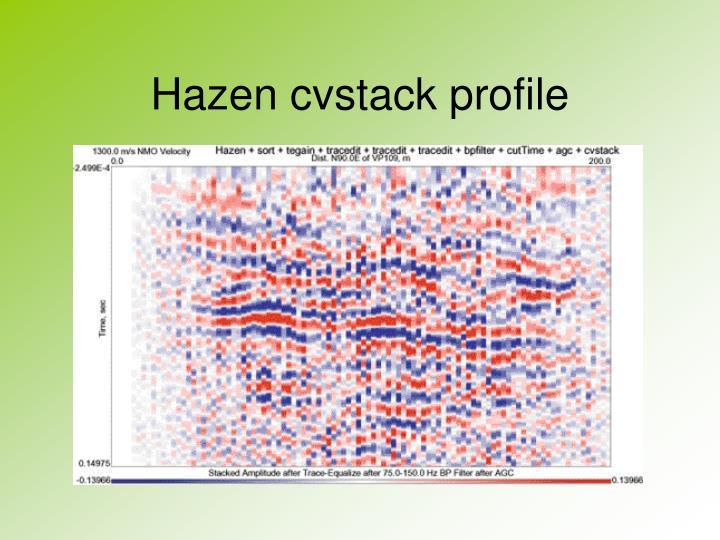 Hazen cvstack profile