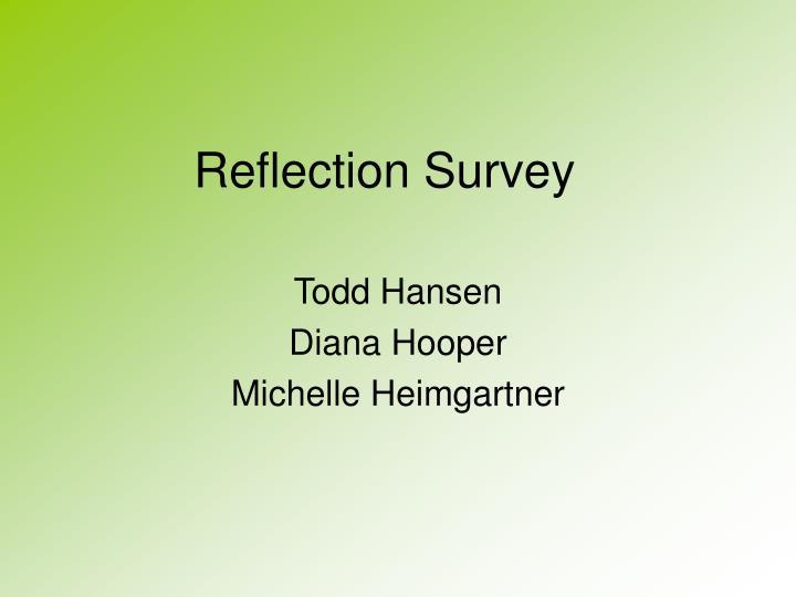Reflection survey