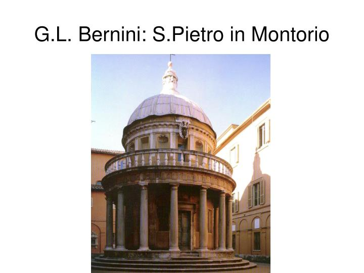 G.L. Bernini: S.Pietro in Montorio