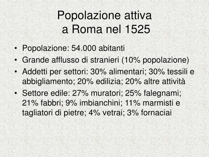 Popolazione attiva