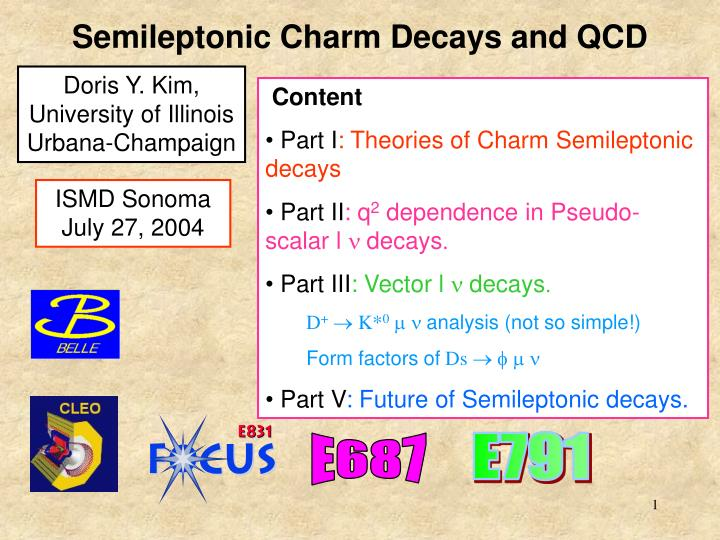 semileptonic charm decays and qcd n.