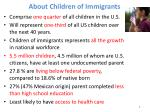 about children of immigrants