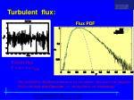 turbulent flux