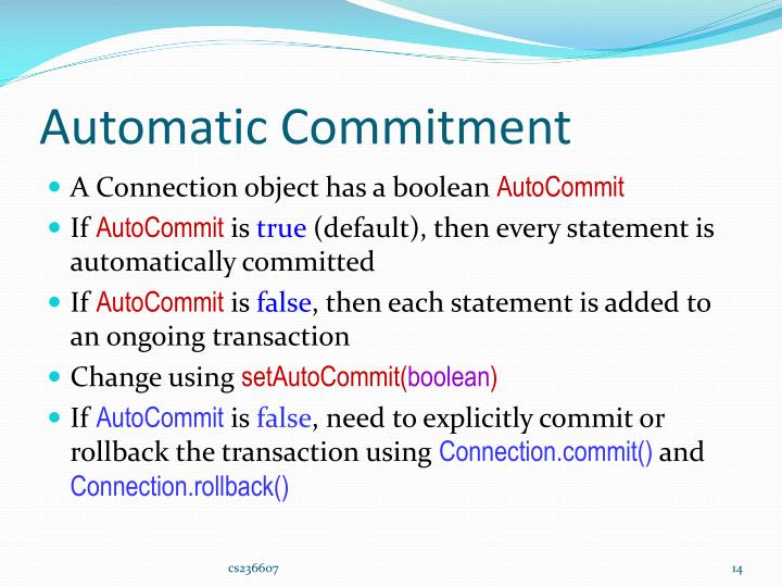 Automatic Commitment