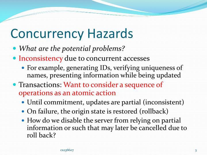 Concurrency hazards