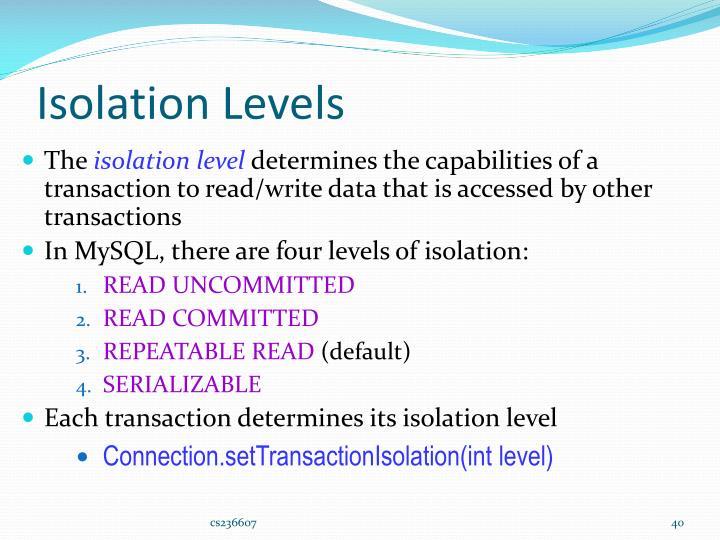 Isolation Levels