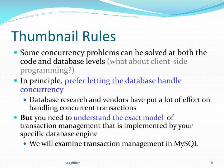 Thumbnail Rules