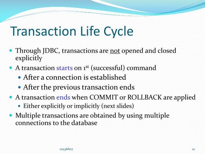 Transaction Life Cycle