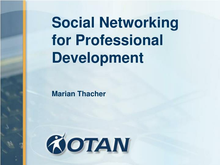 social networking for professional development n.