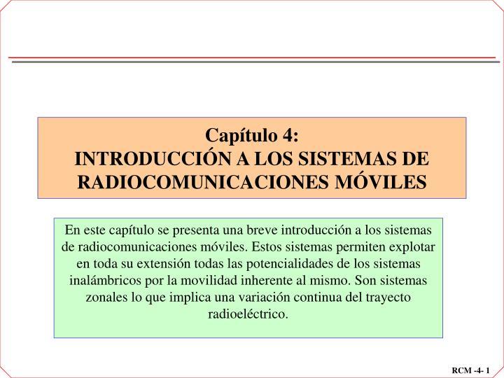 cap tulo 4 introducci n a los sistemas de radiocomunicaciones m viles n.