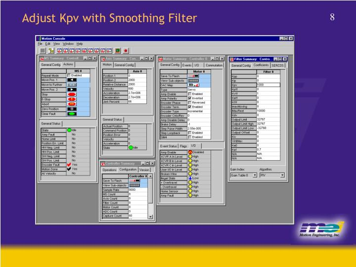 Adjust Kpv with Smoothing Filter
