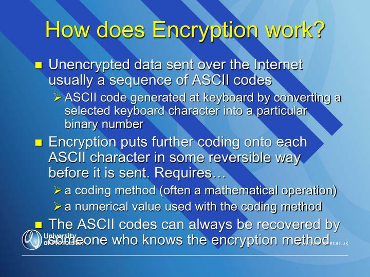 How does Encryption work?