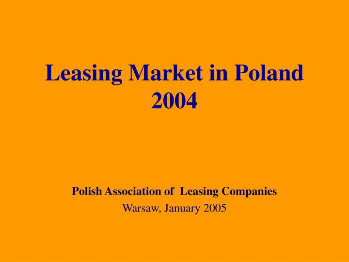 leasing market in poland 2004 n.