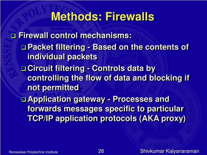 Methods: Firewalls