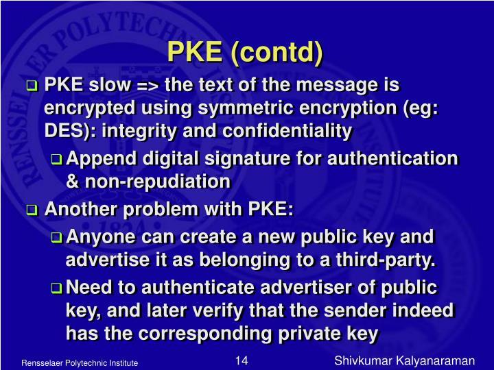PKE (contd)