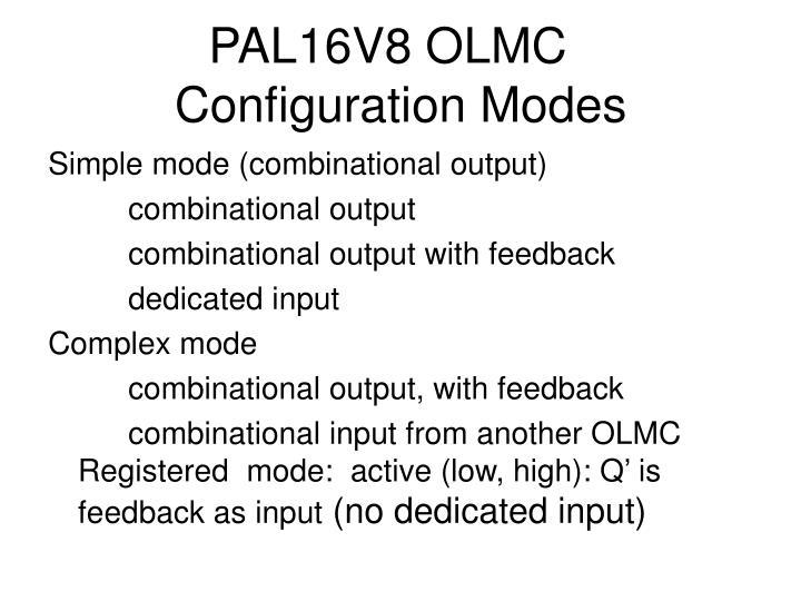 PAL16V8 OLMC