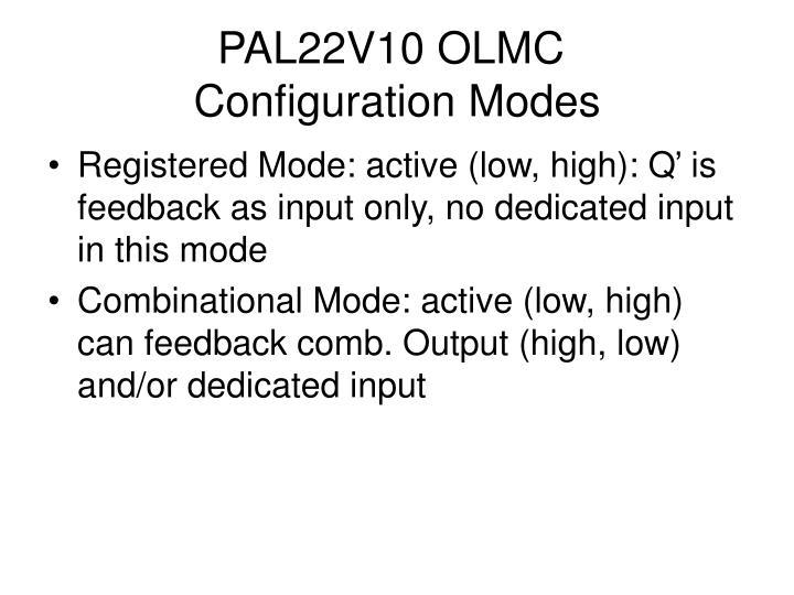 PAL22V10 OLMC