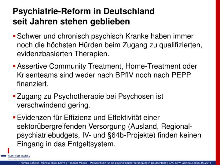 Psychiatrie-Reform in Deutschland