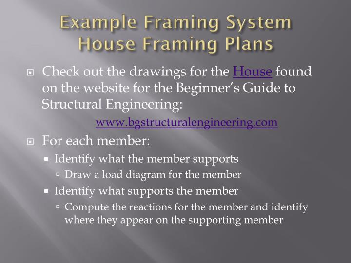 Example Framing System