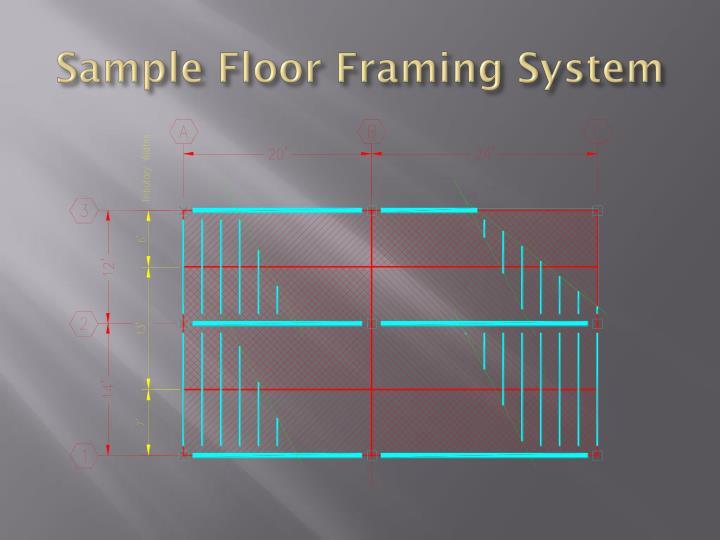 Sample Floor Framing System