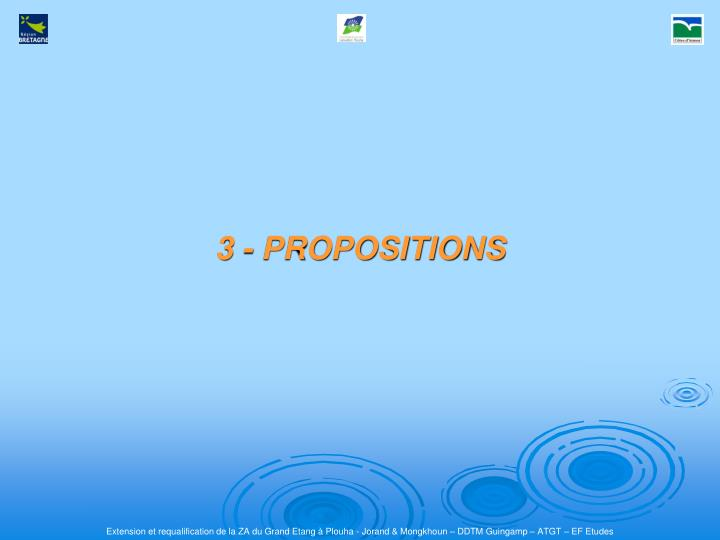 3 - PROPOSITIONS