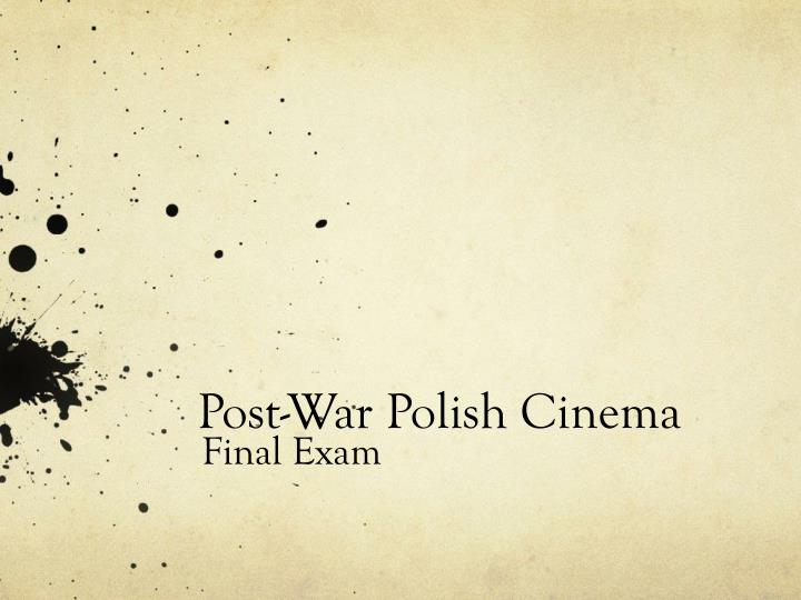 Post war polish cinema