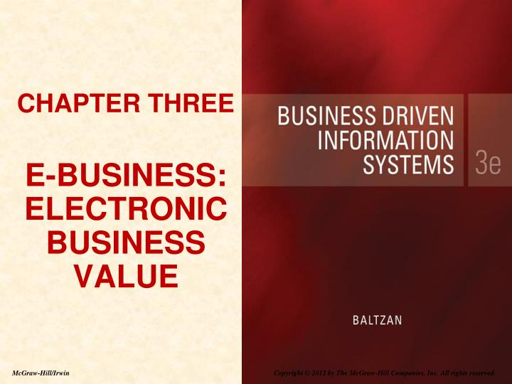 chapter three e business electronic business value n.