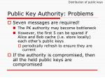 public key authority problems