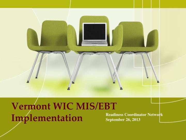 Vermont wic mis ebt implementation